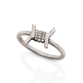Barbed Wire Stacking Ring - Smooth
