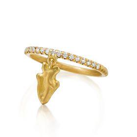 Arrowhead Charm Ring