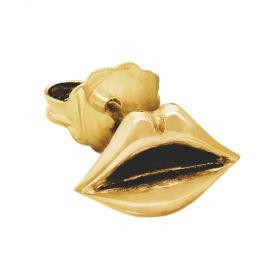 Lips Emoji Stud Single Earring
