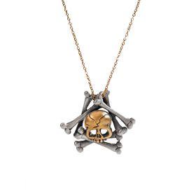 Memento Mori Skull and Bones Necklace