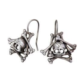 Memento Mori Skull and Bones Earrings