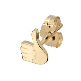 Thumbs Up Emoji Stud Single Earring