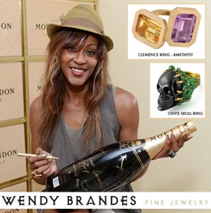 What Shontelle Wore at NYFW: Wendy Brandes Jewelry
