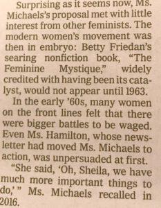 RIP, Ms. Sheila Michaels