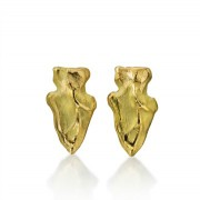 Arrowhead Stud Earrings - Gold