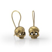 Memento Mori skull earrings.