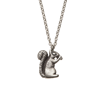 Squirrel necklace.