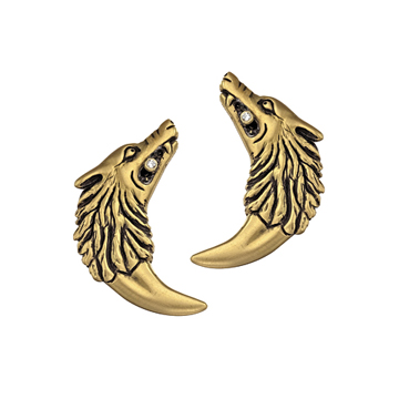 Isabella Wolf-Fang earrings.