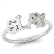 Word Ring - SLAY - Silver