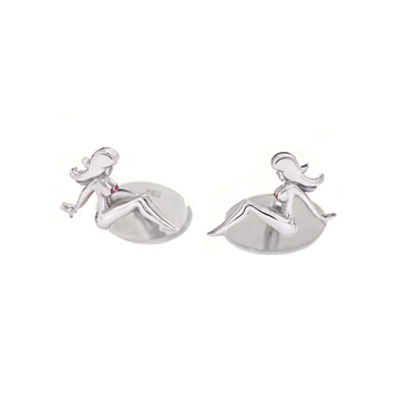 Mud Flap Jill cufflinks.