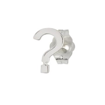 Question mark single stud earring.