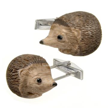 Paul's custom-made hedgehog cufflinks.