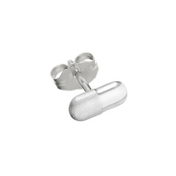 Pill emoji single stud earring.