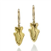 Arrowhead Drop Earrings - Gold