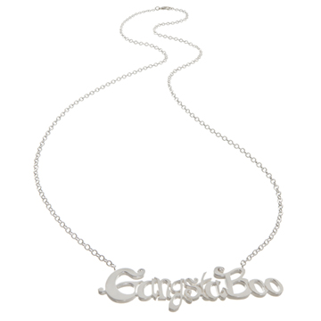 Gangsta Boo's custom nameplate necklace.