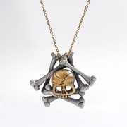 Memento Mori skull and bones necklace.