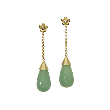 Dewdrop earrings.
