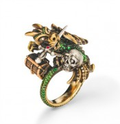 Maneater Ring: Dragon and Knight