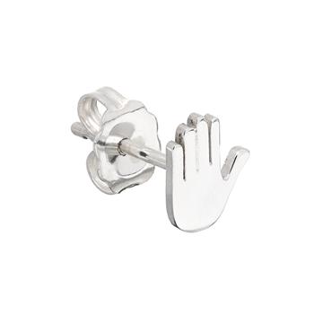 Talk to the hand emoji earring.