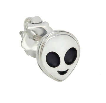 Alien emoji single stud earring.