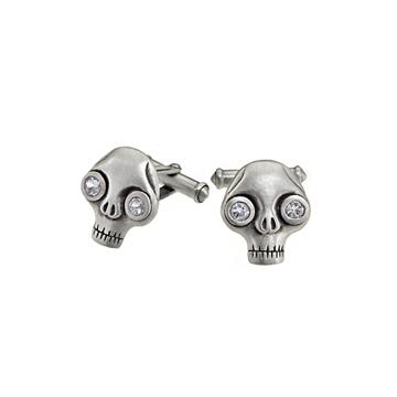 Juana skull cufflinks.