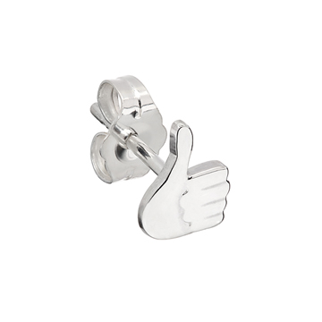 Thumbs up emoji earring.