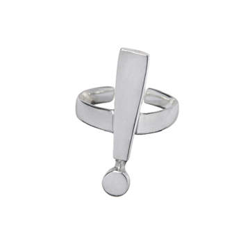Exclamation point ring.