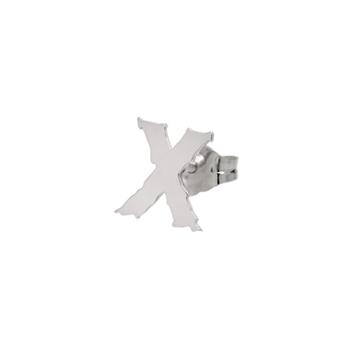 Letter X single earring.