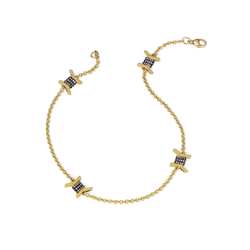 18K yellow gold anklet.