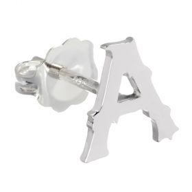 Letter Stud Single Earring