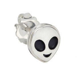 Alien Emoji Stud Single Earring