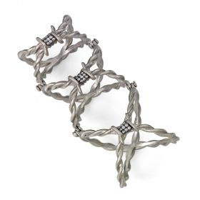 Full-Finger Hinged Barbed Wire Ring