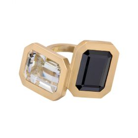 Clemence Ring - Spinel & Crystal