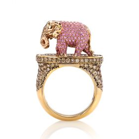Maneater Ring: Pink Elephant and Tipsy Writer