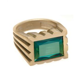 Unisex Tourmaline Engagement Ring