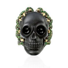 Onyx Skull Ring