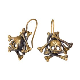 Memento Mori Skull and Bones Earrings