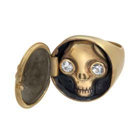 Juana Peekaboo Skull Ring