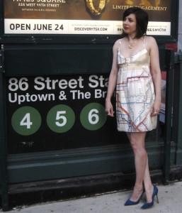 Good Samaritan in a Subway Map Dress*