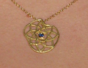 Featured Jewel: Lotus Necklace With Sapphire