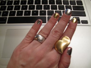 Minx Manicure #4: Silver and Gold