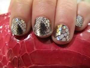 Minx Manicure #8: Silver Snakeskin Pattern