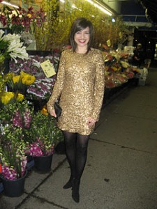 What Wendy Wore: Gold Sequins for New Year's Eve 2012