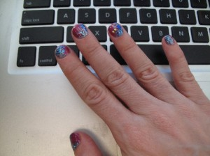 """Winter Solstice"" Manicure by Tracylee Percival"