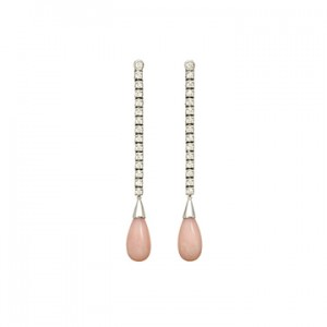 Valentine's Day Countdown, Day 1: Pink Opal Earrings