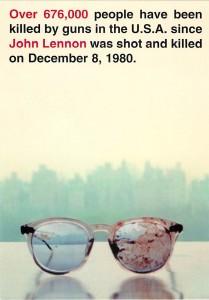 Yoko Ono's Gun-Control Billboard From 2000