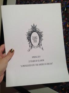 What Wendy Wore: Zang Toi's 25th Anniversary Show