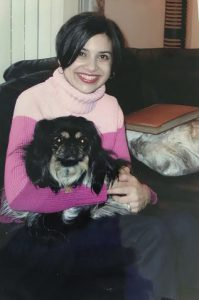 Throwback Thursday: Pink Sweater and a Black Dog