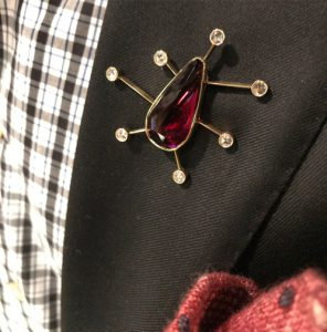 Jewel of the Month: Garnet Man Brooch for January
