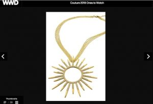 Wendy Brandes Jewelry at Couture (and in WWD)